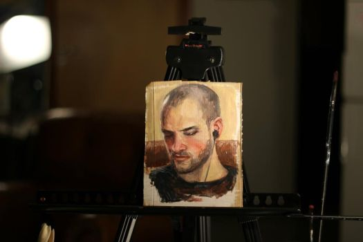 portrait painting group 3 dec 2011 by DStraX