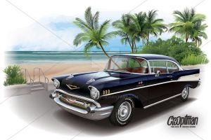 Black Betty - 1957 Chevrolet by CRWPitman