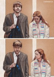 The Secret (Panel Version) - Jim and Pam by Ladamania