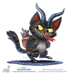 Daily Paint 1848# Krampuss by Cryptid-Creations