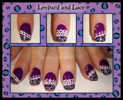 Leopard and Lace Nails by Jessi9999