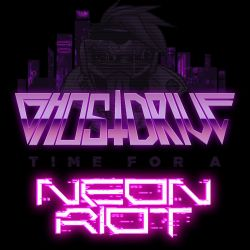time for a neon riot EP cover by andehpinkard