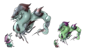Fakemon, Dracocean by icycatelf