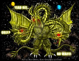 SD King Ghidorah by RenDragonClaw