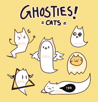 CHEAP cat ghosties! (open) by spaded-square