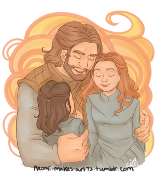 Happy Father's Day, Ned! by naomimakesart
