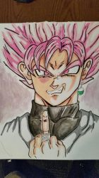 Goku black: Super Saiyan Rose by lewismallery99