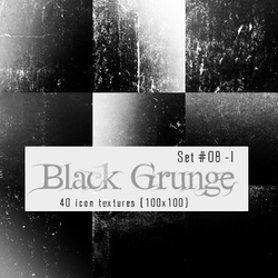 Icon Textures - Set 008 - Black Grunge (100x100) by justalittlefaith