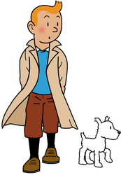 Tintin and Snowy by EJLightning007arts