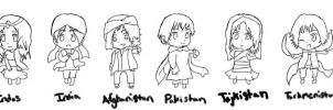 Chibi Family Outline :3 by India-Is-Fabulous