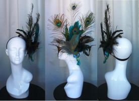 Eyes - Peacock Headdress by Mrs-SaxoBeat