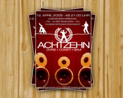 Flyer Achtzehn Party by DOMDESIGN