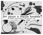 20+ Paint And Stains Brushes by gamblingwithsouls