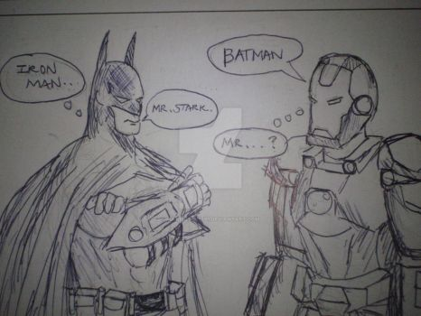 Batman and Iron Man by mattkevin1991