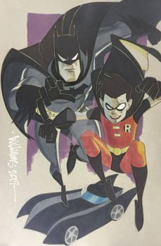 Batman and Robin Phoenix con commission by BroHawk