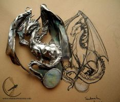 Dragoness necklace by RekamiStworzone