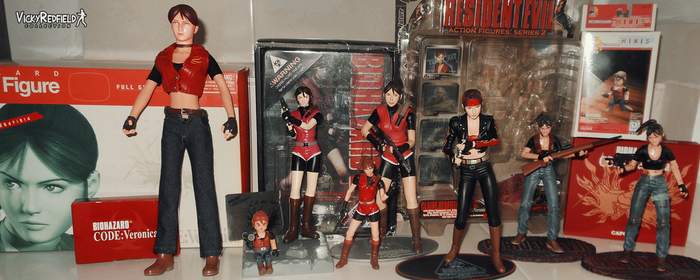 Claire Redfield figure collection by VickyxRedfield