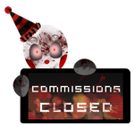 PC - Evil Ennard Commissions Closed Stamp by BlueBismuth