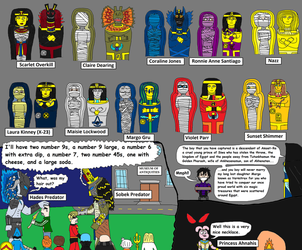 Margo and her friends Sarcophagus 2 by PeteDRaptor