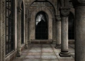 Gothic Patio Background by Lil-Mz