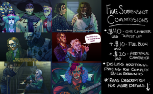 Fake Screen Shot Commissions !! REDUCED PRICES by Kastoway