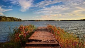 Old Stone Jetty by Pajunen