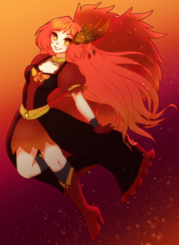 Firey Angel by PastellettaArt