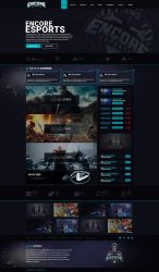 Encore eSport Website Design and Coding (sold)