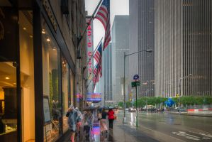 Rain over Radio City by Rikitza