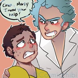 Ricknmorty by FeathersofDarkness14