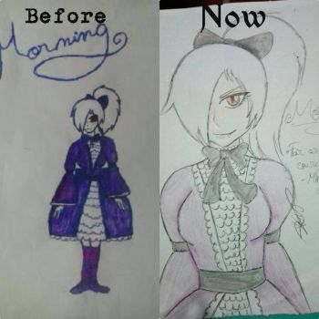 Redrawing my old art (Morning/Asa)#4 by HomicidalThoughts