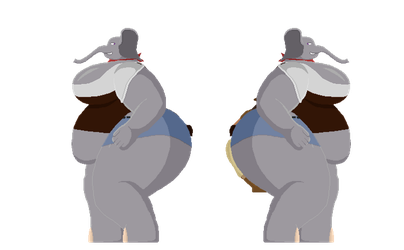 Double Elephant Preview by SquashedFlat
