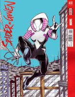Spider Gwen sketch cover 1 by hdub7