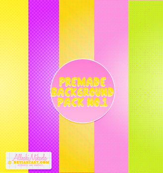 Premade Background Pattern Pack No. 1 by AlleakiMikaela