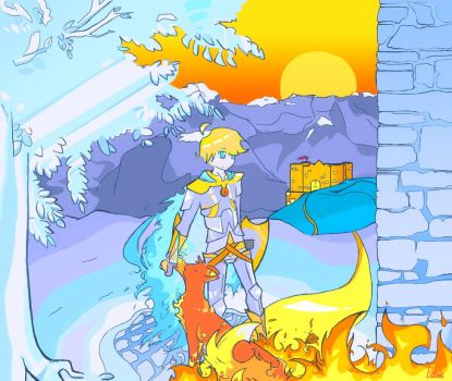 Fire and Ice by Invader-Elze