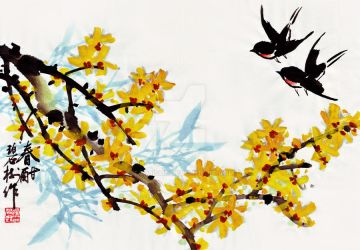 Spring Swallows by TaoBishu