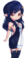 Tall Chibi Noire by Sitrophe
