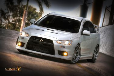 White Evo X - HDR by featheredpixels