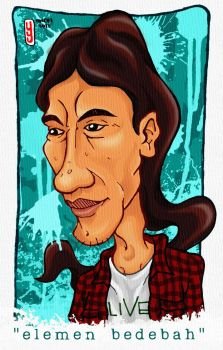 self portrait in caricature by albyletoy