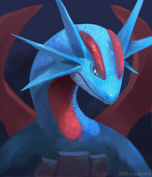 Salamence by R8A-creations