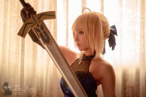 HaneAme cosplay Fate extraCCC-saber by HaneAme