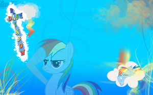 FiM Rainbow Dash Wallpaper by M24Designs