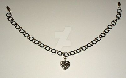 Black Gold Chainmail Anklet by Healersmoon