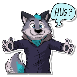 Furvester (Telegram Sticker) 02 by lobowupp