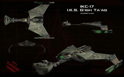 Klingon Warbird ortho by unusualsuspex