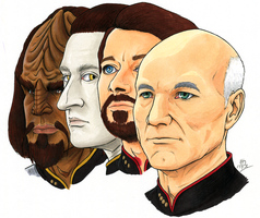 Old Trek Drawing by KaizokuShojo