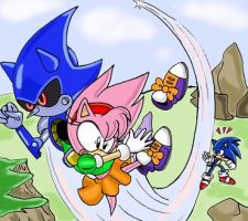 Scene from Sonic CD by Teejii