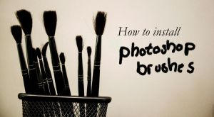 How to install photoshop brushes by Rogerdatter