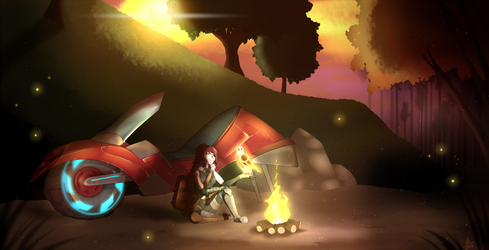 Commission - Campfire by HiSS-Graphics