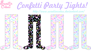 Confetti Party Tights by SweetiexCakes